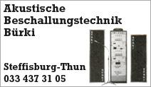 Akustische Beschallungstechnik Bürki