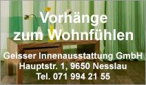 Geisser Innenausstattung GmbH – Vorhang-Atelier