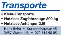 Transporte Hans Reist