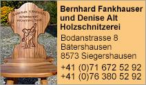 Bernhard Fankhauser und Denise Alt Holzschnitzerei