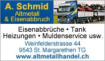 A. Schmid Alteisenhandel und Abbrüche