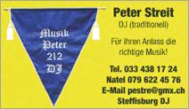 Peter Streit, DJ