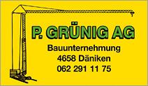 P. Grünig AG  Bauunternehmung