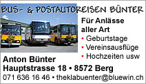 BUS- & POSTAUTOREISEN BÜNTER