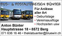 BUS- & POSTAUTOREISEN BÜNTER