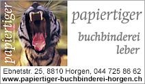 papiertiger Buchbinderei Leber
