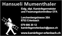 Kaminfegergeschäft Hansueli Mumenthaler