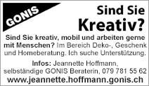 Jeannette Hoffmann, Gonis Beraterin