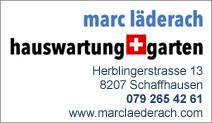 Marc Läderach Hauswartung & Garten