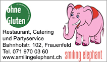 Restaurant smiling elephant