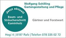 Gartengestaltung und Pflege, Wolfgang Schilling