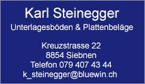 Karl Steinegger Unterlagsböden und Plattenbeläge