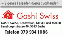 Gashi Swiss – Renovation, Gipser und Maler