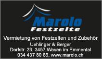 Marolo Festzelte Uehlinger & Berger