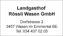 Landgasthof Rössli Wasen GmbH