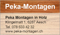 Peka Montagen in Holz