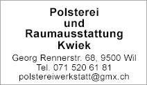 Polsterei und Raumausstattung Kwiek