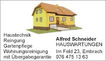 Hauswartungen Alfred Schneider