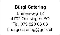 Bürgi Catering