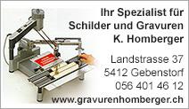 Schilder & Gravuren K. Homberger