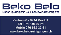 Beko Belo Reinigungen