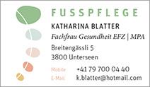 Fusspflege Blatter Katharina