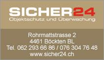 SICHER24 Objektschutz und Überwachung