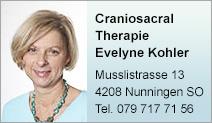 Craniosacral Therapie Evelyne Kohler