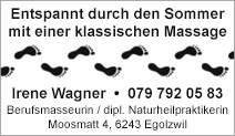Irene Wagner Berufsmasseurin / Dipl. Naturheilpraktikerin
