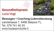 Gesundheitspraxis Luzia Vogt